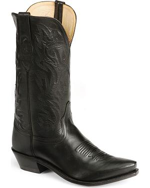 Old West Leather Cowboy Boots - Snip Toe