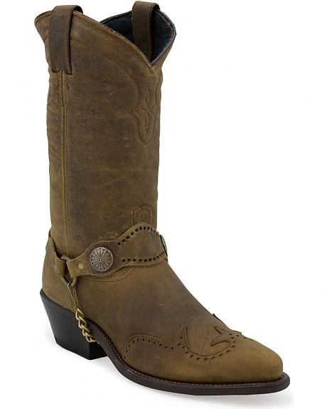 Sage by Abilene Men's Wingtip Harness Cowboy Boots - Medium Toe