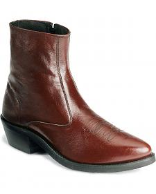 Old West Zipper Western Ankle Boots