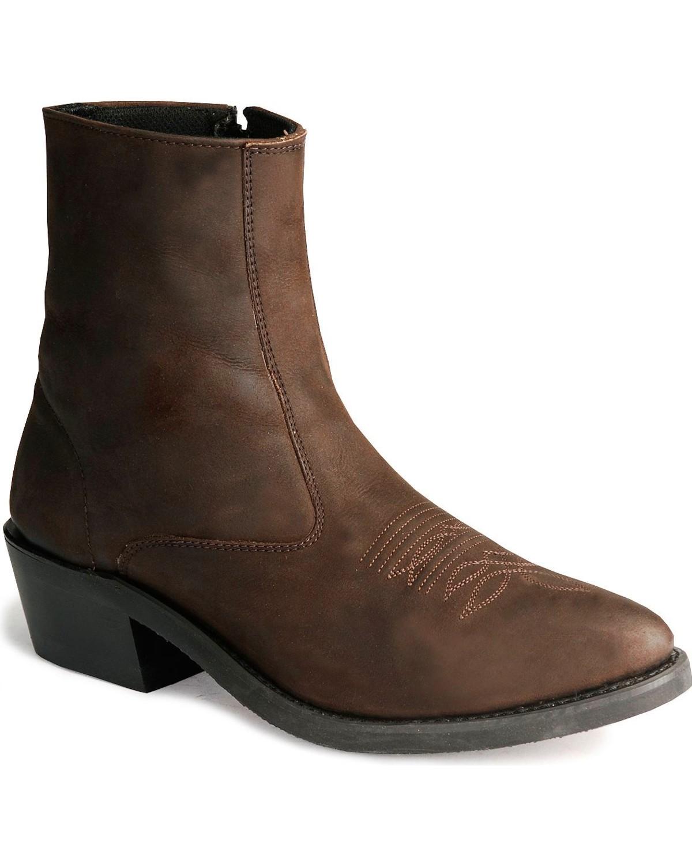 old west men 39 s zipper western ankle boot mz7082 ebay. Black Bedroom Furniture Sets. Home Design Ideas