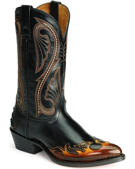 Laredo Flame Wingtip Western Boots