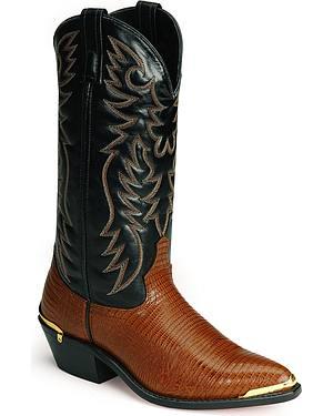 Laredo Lizard Print Western Boots