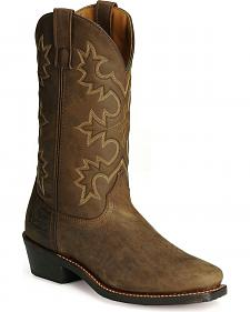 Laredo Distressed Western Trucker Boots - Square Toe