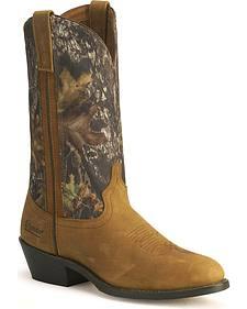 Laredo Mossy Oak Camo Trucker Boots - Round Toe