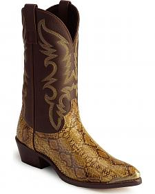 Laredo Python Print Cowboy Boots - Pointed Toe