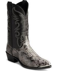 Laredo Snake Print Cowboy Boots