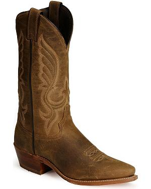 Abilene Distressed Leather Cowboy Boots - Snip Toe