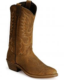 Abilene Bison Leather Cowboy Boots - Medium Toe
