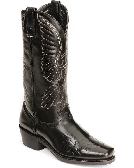 Laredo Eagle Stitch Cowboy Boots - Square Toe