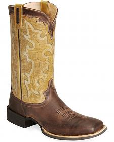 Old West Cowboy Boots - Wide Sq Toe