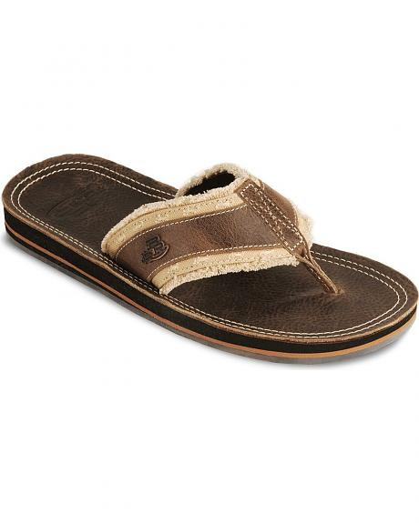 Justin Bent Rail Frayed Footbed Thong Sandals