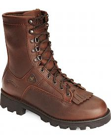 "Rocky Portland Insulated & Waterproof 9"" Lace-Up Work Boots"