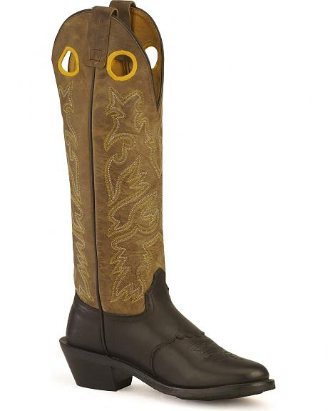 Old West Saddle Vamp Buckaroo Cowboy Boots - Round Toe