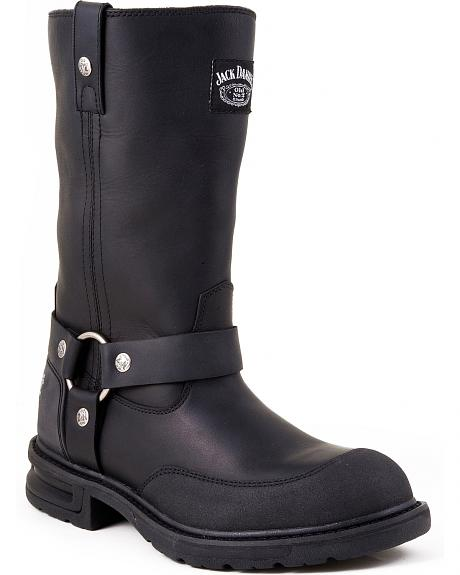 Jack Daniel's Pull-On Motorcycle Boots - Round Toe