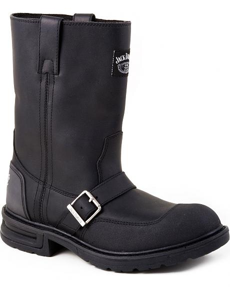 Jack Daniel's Pull-On Buckle Harness Motorcycle Boot - Round Toe