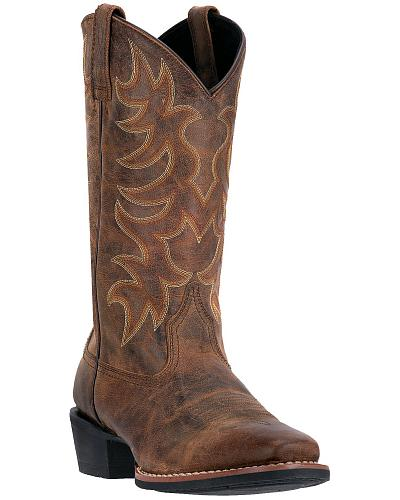 Laredo Goatskin Leather Cowboy Boots Square Toe Western & Country 68362