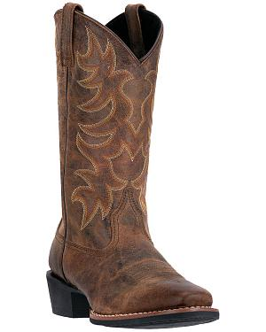 Laredo Goatskin Leather Cowboy Boots - Square Toe