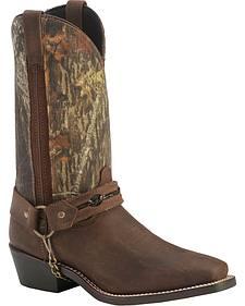 Laredo Mossy Oak Barbed Wire Harness Boots - Square Toe