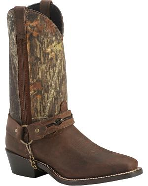 Laredo Mossy Oak Barbed Wire Harness Boots - Square Toe