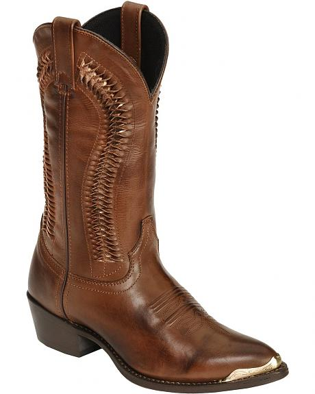 Laredo Twisted Leather Cowboy Boots - Pointed Toe