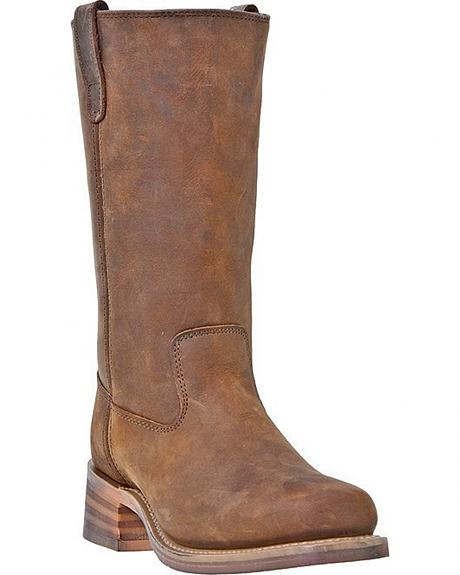 Dingo Brigade Pull-On Western Boots - Square Toe