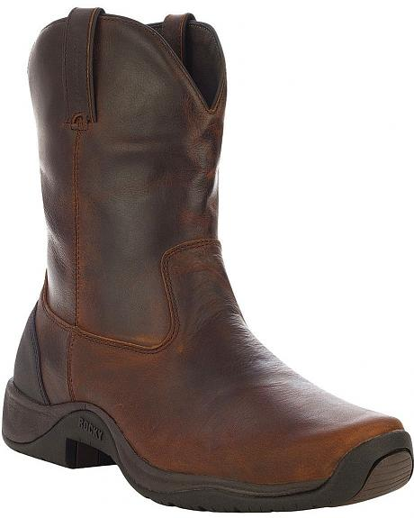 Rocky Waterproof Barnstormer Pull-On Barn Boots - Round Toe