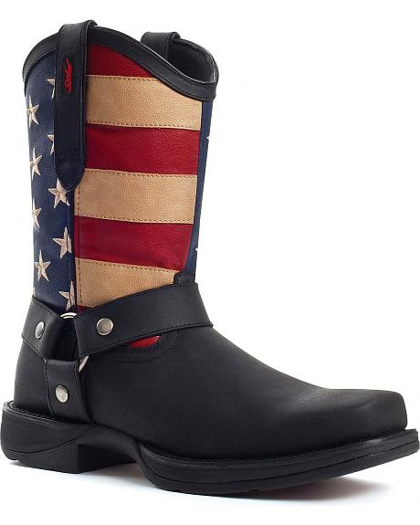 Durango Rebel American Flag Harness Boot - Snoot Toe