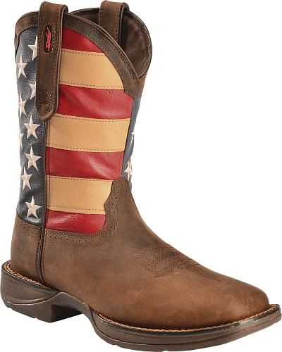 Durango Rebel American Flag Cowboy Boots Square Toe Western & Country BD5554