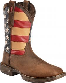 Durango Rebel American Flag Cowboy Boots - Square Toe