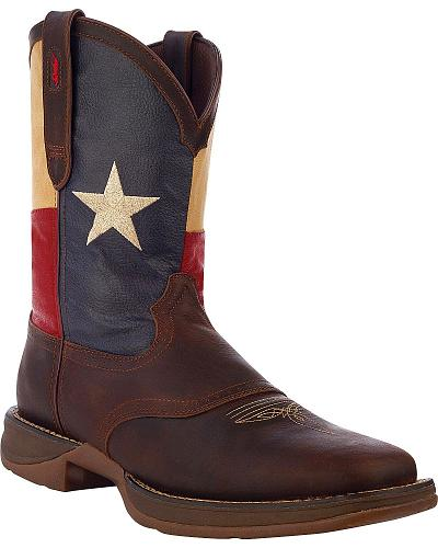 Durango Rebel Texas Flag Cowboy Boots Square Toe Western & Country DB4446