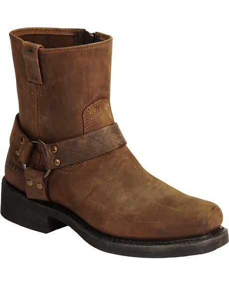 Bates Big Bend Pull-On Harness Motorcycle Boots - Square Toe
