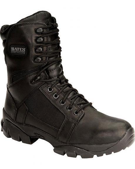 Bates Escalante Waterproof Lace-Up Motorcycle Boots - Round Toe
