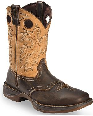Durango Rebel Saddle Cowboy Boots - Square Toe