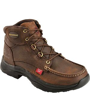 Tony Lama 3R Waterproof Lace-Up Casual Boots - Round Toe