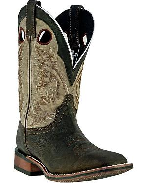 Laredo Collared Cowboy Boots - Square Toe