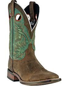 Laredo Collared Cowboy Boots - Square Toe