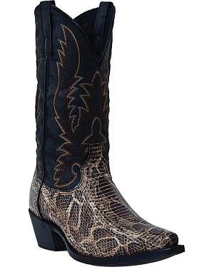 Laredo Python Snake Print Cowboy Boots - Snip Toe