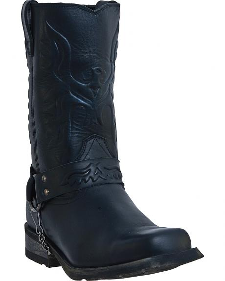 Dingo Embossed Eagle Harness Boots - Square Toe
