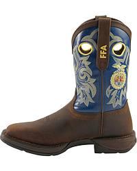 Durango Rebel FFA Brown Cowboy Boots - Square Toe at Sheplers