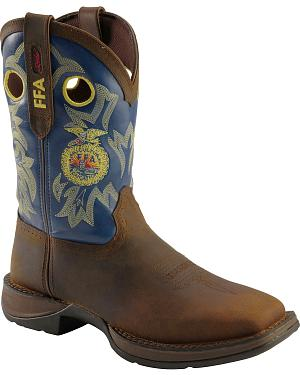 Durango Rebel FFA Brown Cowboy Boots - Square Toe