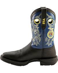 Durango Rebel FFA Black Cowboy Boots - Square Toe at Sheplers