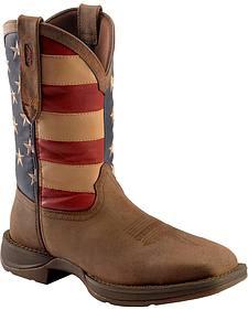 Durango Rebel American Flag Cowboy Boots - Steel Toe