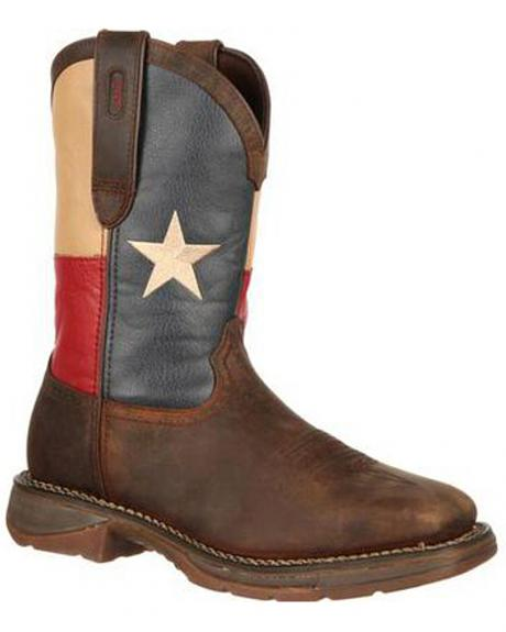 Durango Rebel Texas Flag Cowboy Boots - Comp Toe