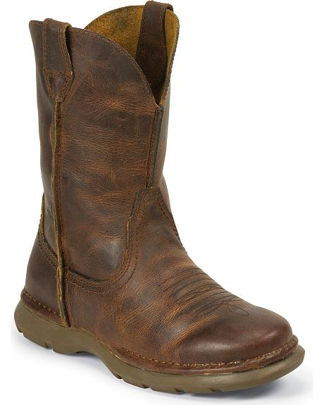 Justin Casual Cowboy Boots - Round Toe
