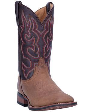 Laredo Lodi Cowboy Boots - Wide Square Toe