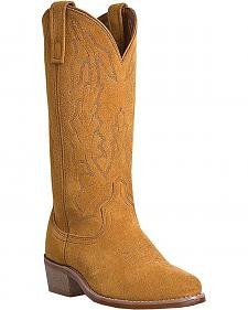 Laredo Jacksonville Suede Cowboy Boots - Round Toe