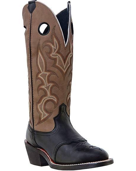 Laredo Garland Buckaroo Cowboy Boots - Round Toe