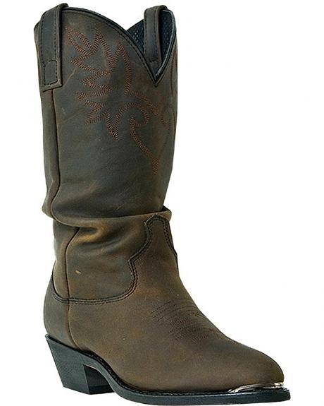 Dingo Brussels Slouch Cowboy Boots - Round Toe