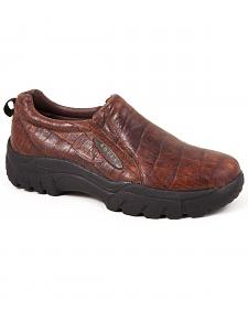 Roper Performance Croc Print Slip-On Shoes - Round Toe