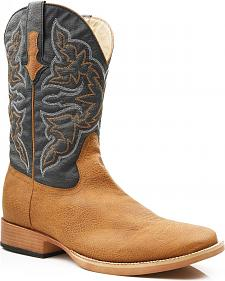 Roper Men's Faux Leather Cowboy Boots - Square Toe
